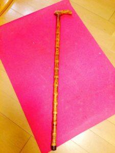 人文字の作成に使用した杖