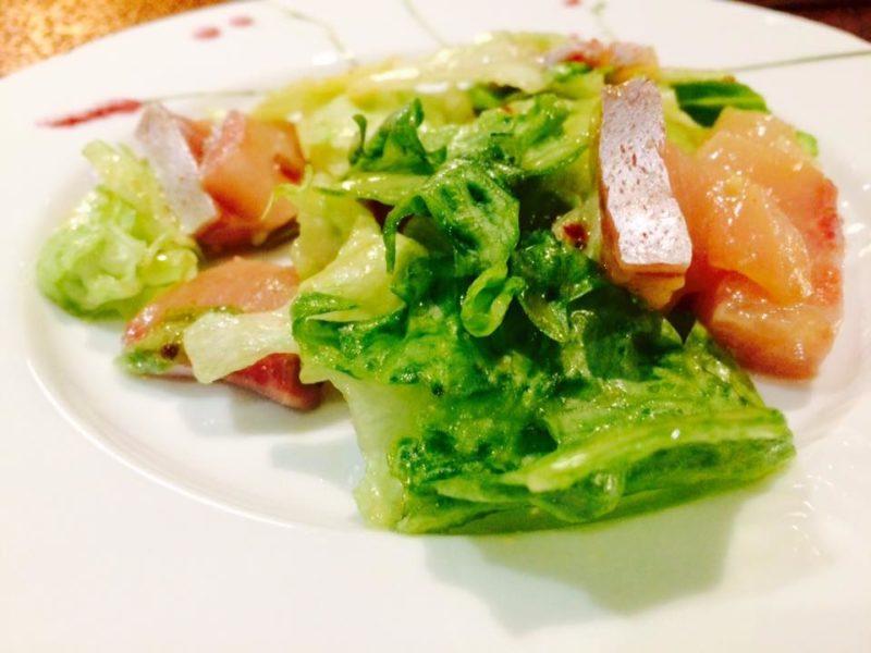 天然ぶりのサラダ