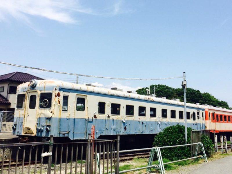 阿字ヶ浦駅に停まっていた電車