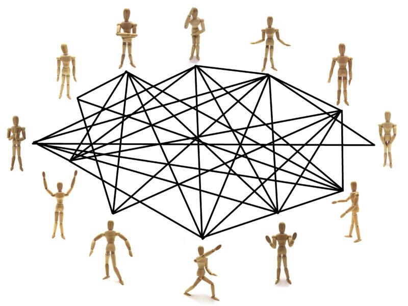 人の繋がりイラスト